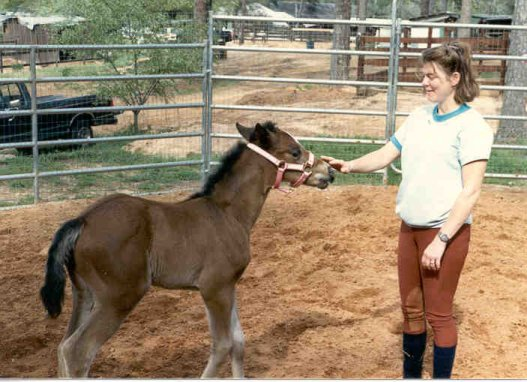 Baby Graefin and Deanie 1989