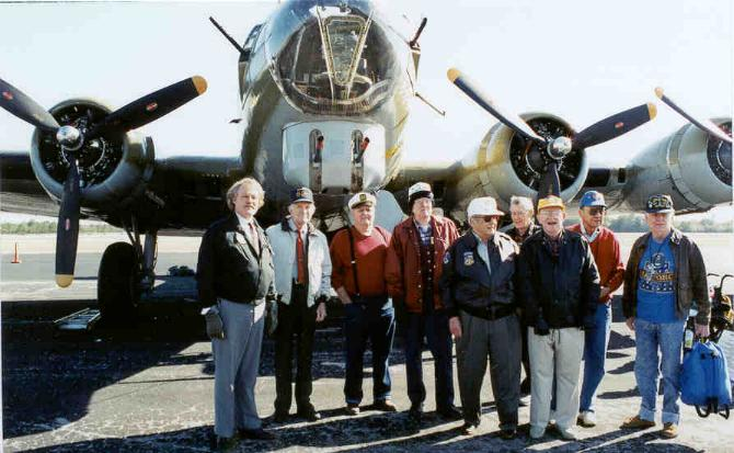 Collings Foundation B-17/Dave and WW II Veterans/Photo by Deanie